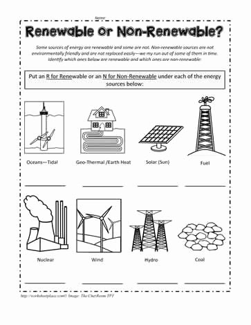 Renewable and Nonrenewable Resources Worksheet Unique Renewable Energy Worksheet Energy Etfs