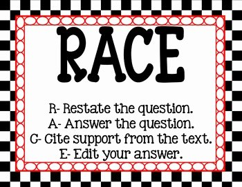 Restating the Question Worksheet Elegant Restate the Question Acronym Strategy Posters Freebie