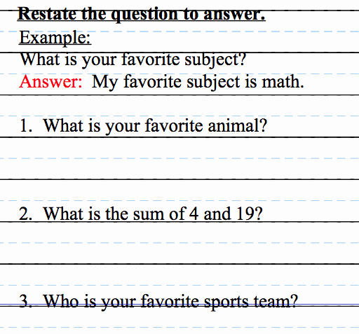 Restating the Question Worksheet Fresh Fourth Grade Flipper Workshop Wednesday Restate the