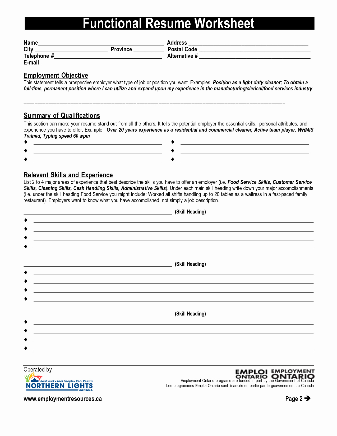 Resume Worksheet for Adults Beautiful Ministry Of Education and Training Helping with Homework