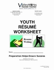 Resume Worksheet for Adults Beautiful Transition Math Job Skills Lesson Plans & Worksheets