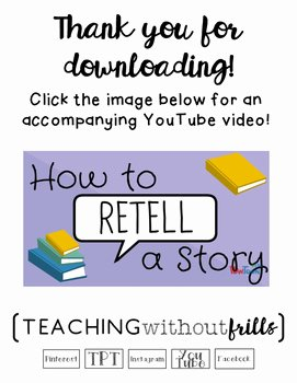 Retelling A Story Worksheet Awesome Free Kindergarten Rl K 2 Retelling A Story Worksheet