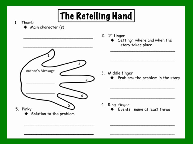 Retelling A Story Worksheet Beautiful 15 Graphic organizers for Teachers Teaching
