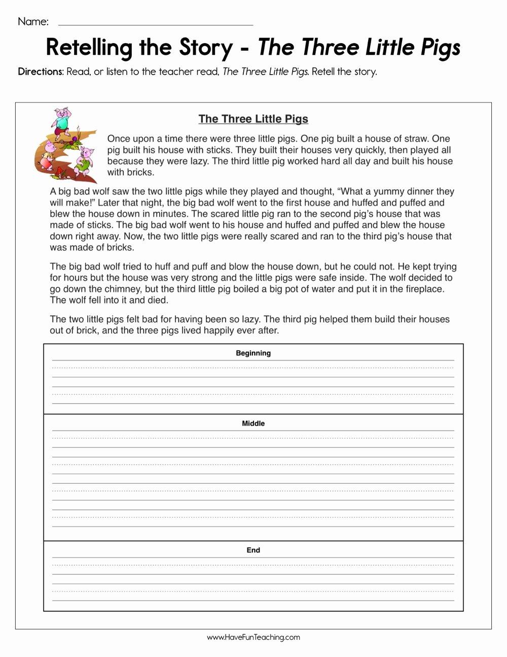 Retelling A Story Worksheet Beautiful Resources Reading Summarizing