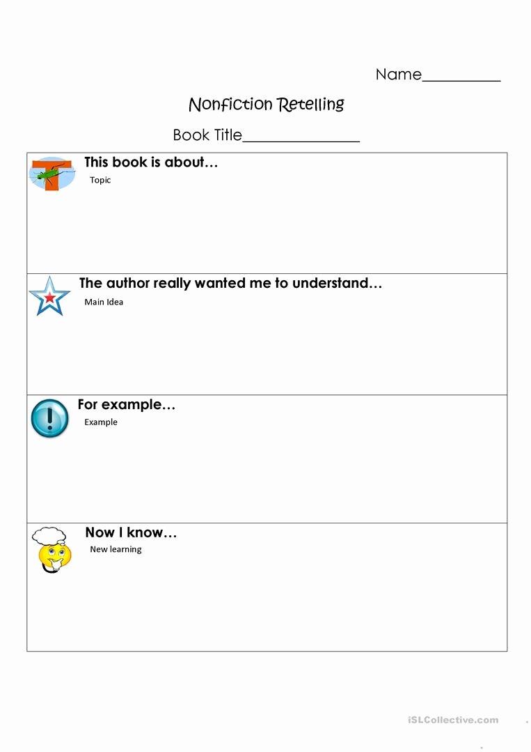 Retelling A Story Worksheet Best Of Retell Story Worksheet
