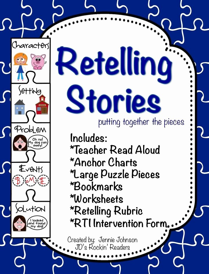 Retelling A Story Worksheet Best Of Retelling Stories Unit