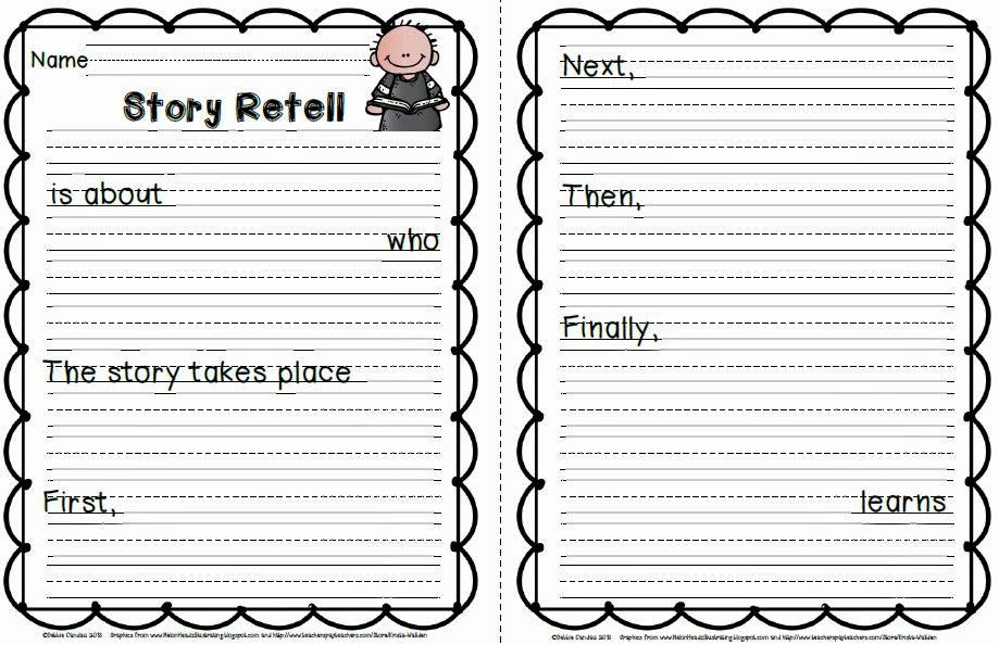 Retelling A Story Worksheet Best Of Sailing Through 1st Grade E Paragraph Retell