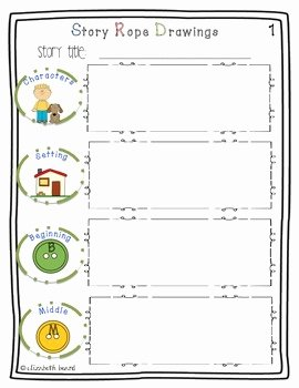 Retelling A Story Worksheet Elegant Story Ropes Retelling and Prehension Rope and