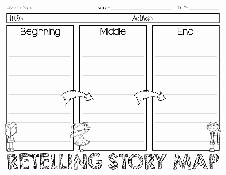 Retelling A Story Worksheet Fresh Beginning Middle and End Retelling Story Map Writing
