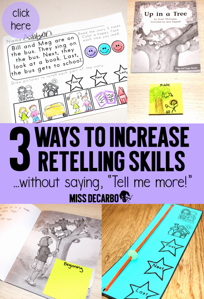 Retelling A Story Worksheet Lovely 3 Ideas to Increase Retelling Skills In Young Readers