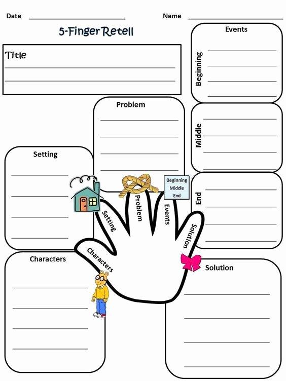 Retelling A Story Worksheet Luxury My 5 Finger Retell Worksheet 2nd Grade Reading