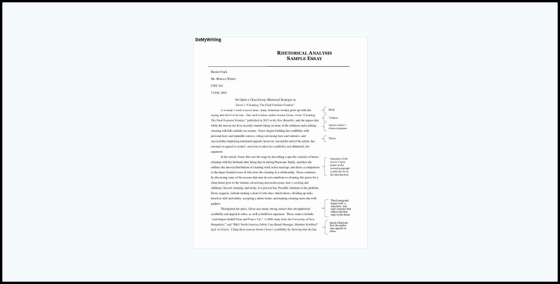 Rhetorical Analysis Outline Worksheet Luxury Guide to A Winning Rhetorical Analysis Essay