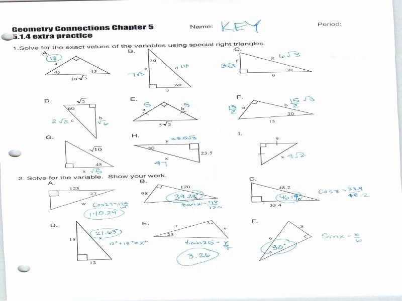 Right Triangle Trig Worksheet Answers Best Of Right Triangle Trig Worksheet