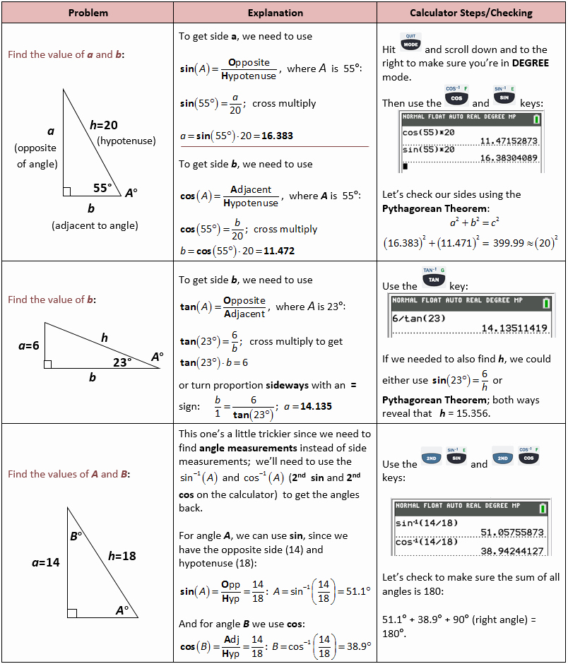 Right Triangle Trig Worksheet Answers Elegant Right Triangle Trigonometry – She Loves Math