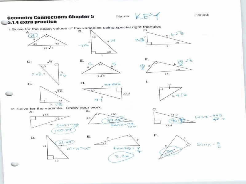 Right Triangle Trig Worksheet Answers Elegant solving Right Triangles Worksheet Answers Free Printable