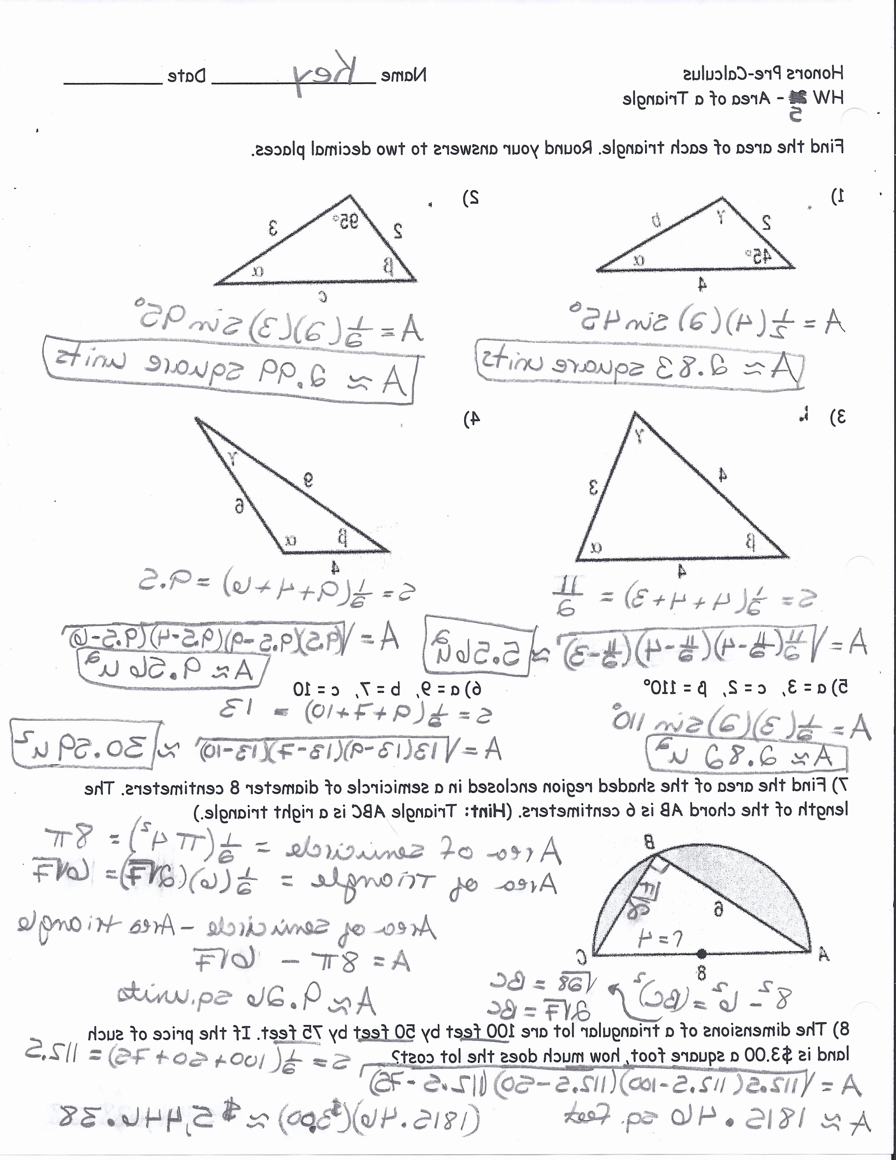 Right Triangle Trig Worksheet Answers Inspirational Right Triangle Trigonometry Worksheet with Answers
