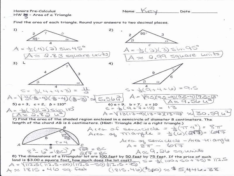 Right Triangle Trig Worksheet Answers Unique Trig Worksheets