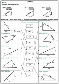 Right Triangle Trig Worksheet Luxury Right Triangle Trigonometry Worksheets soh Cah toa by 123