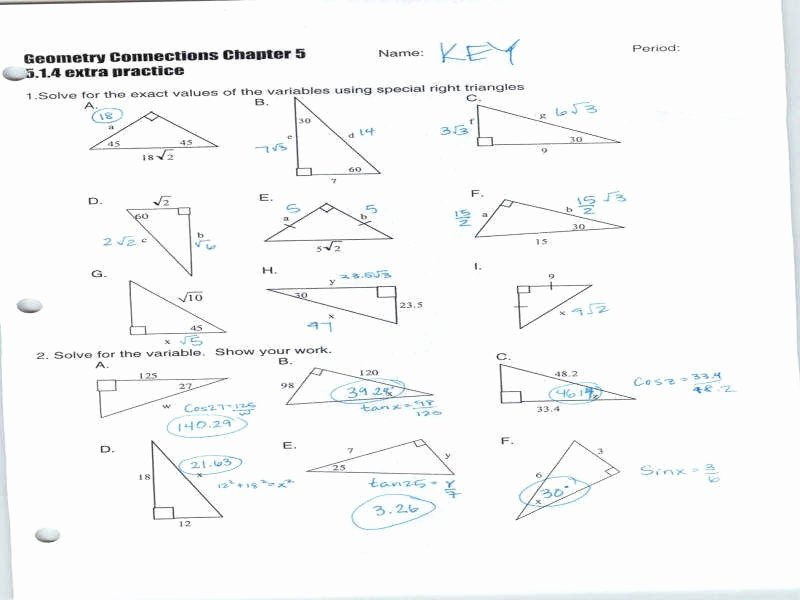 Right Triangle Trig Worksheet New Trig Worksheets