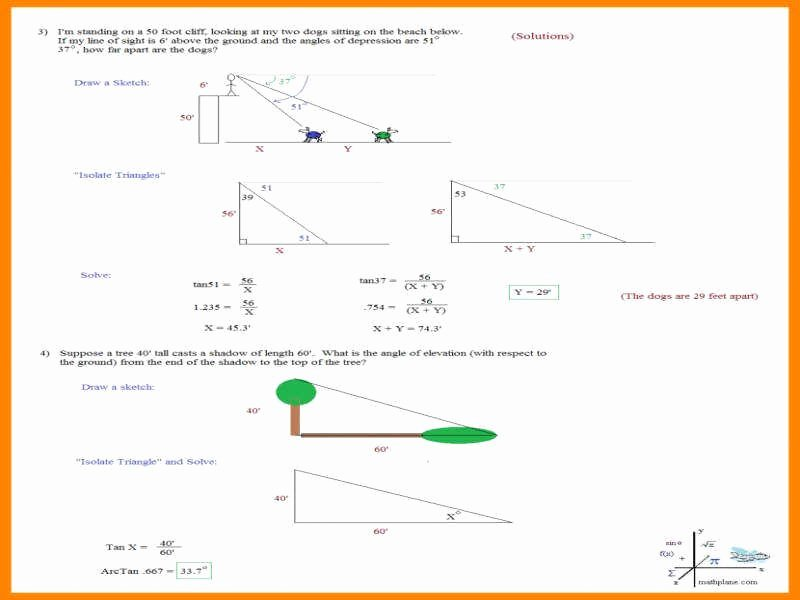 Right Triangle Trigonometry Worksheet Answers Luxury Right Triangle Trig Worksheet