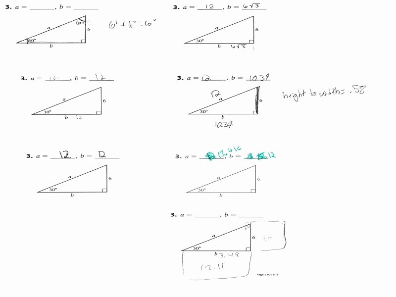 Right Triangle Trigonometry Worksheet Answers Luxury solving Right Triangles Worksheet Answers Free Printable