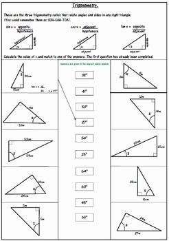 Right Triangle Trigonometry Worksheet Elegant Mixed Trigonometry Ratio Questions