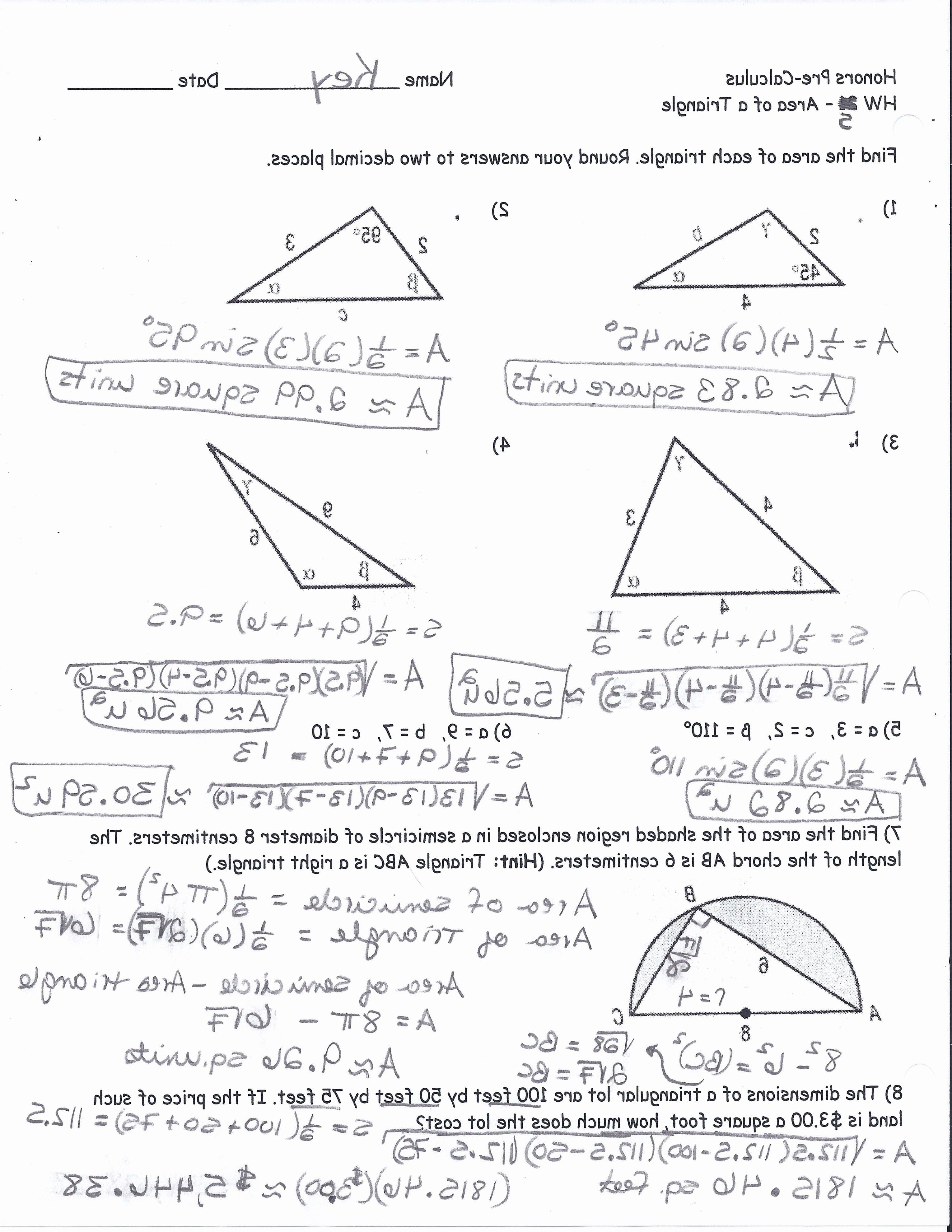 Right Triangle Trigonometry Worksheet Elegant Right Triangle Trigonometry Worksheet with Answers