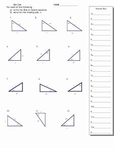 Right Triangle Trigonometry Worksheet Lovely Trigonometry and Right Triangles Worksheet for 11th 12th
