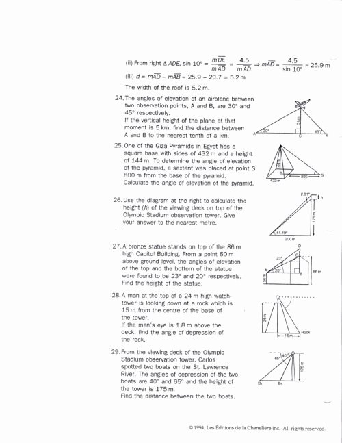 Right Triangle Word Problems Worksheet Beautiful Right Triangle Trigonometry Worksheet Funresearcher
