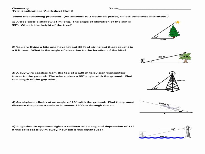 Right Triangle Word Problems Worksheet Fresh Trigonometry Prerequisite Special Right Triangles