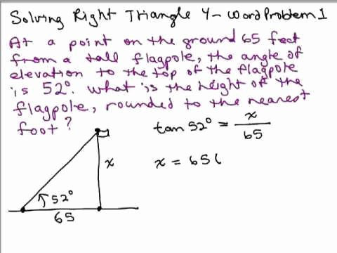 Right Triangle Word Problems Worksheet Inspirational Right Triangle Trigonometry Worksheet