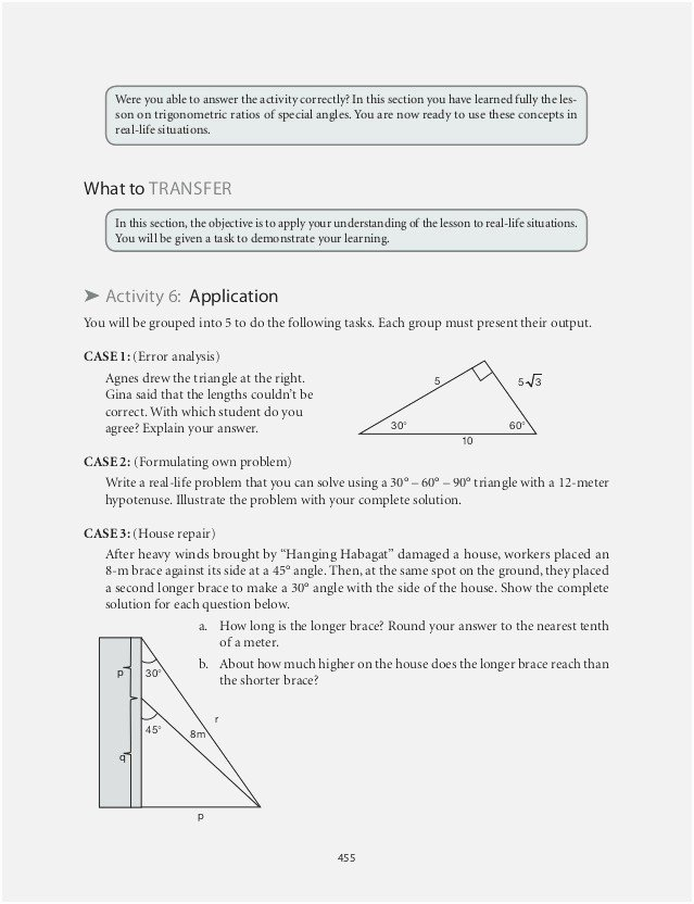 Right Triangle Word Problems Worksheet Luxury Right Triangle Word Problem Worksheet the Best Worksheets