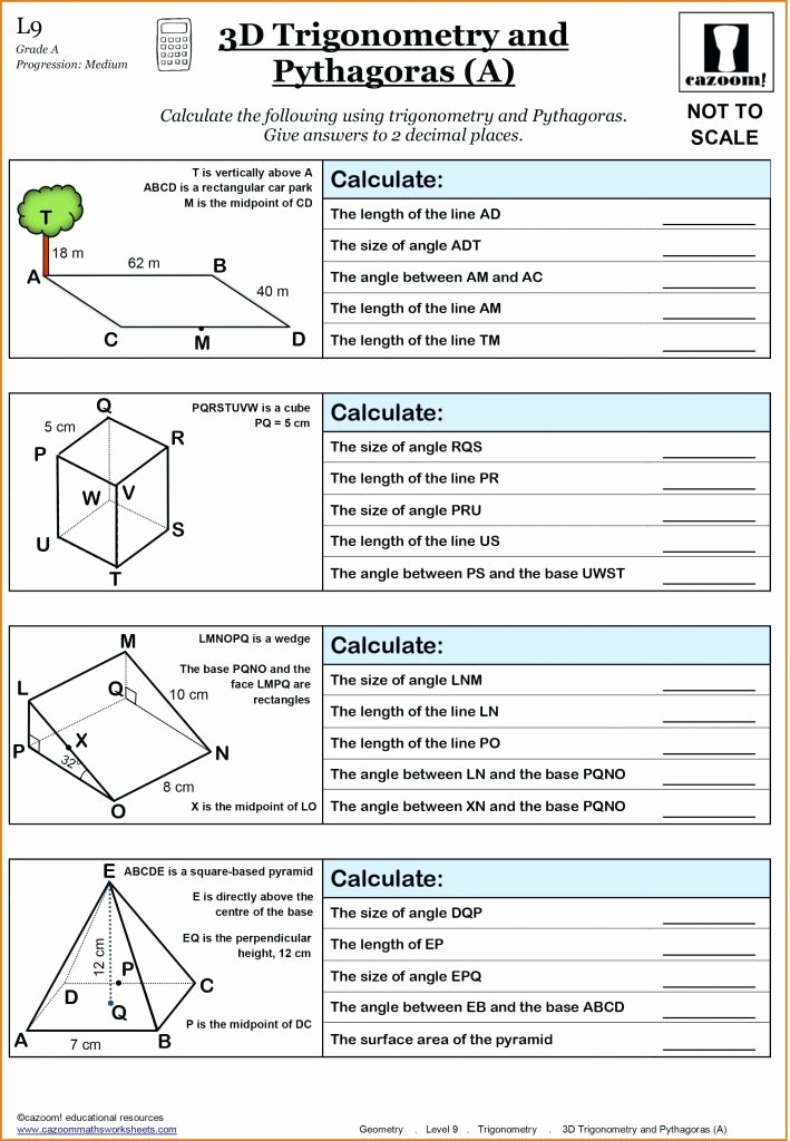 Right Triangle Word Problems Worksheet Luxury Trigonometry Problems Worksheet Math Worksheets