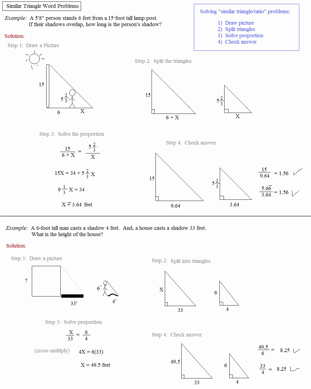 Right Triangle Word Problems Worksheet New Math Plane Similar Triangles & Ratios