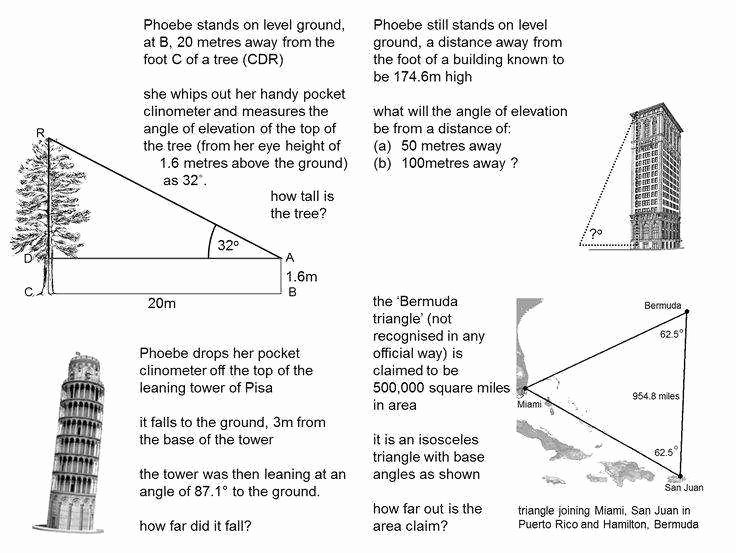 Right Triangle Word Problems Worksheet New Right Triangle Trig Worksheet