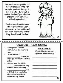 Rights and Responsibilities Worksheet Best Of Citizenship Printable Activity Book Rights and