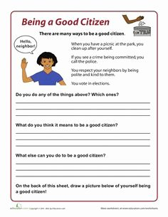 Rights and Responsibilities Worksheet Fresh 1000 Ideas About Good Citizen On Pinterest