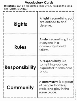 Rights and Responsibilities Worksheet Fresh Rights Rules and Responsibilities