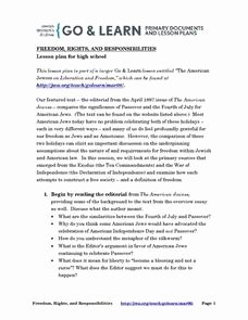 Rights and Responsibilities Worksheet Inspirational Rights and Responsibilities Lesson Plans & Worksheets