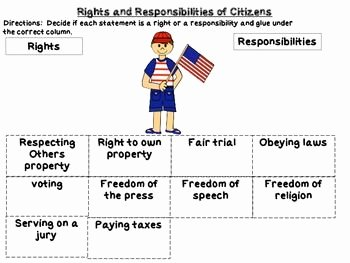 Rights and Responsibilities Worksheet New Rights and Responsibilities Of Citizens Unit Two This