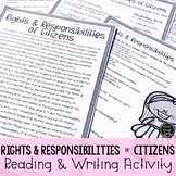 Rights and Responsibilities Worksheet Unique Rights and Responsibilities Worksheets & Teaching