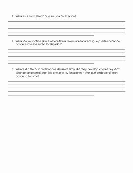 River Valley Civilizations Worksheet Answers Elegant Early River Valley Civilization Worksheet Map to Label