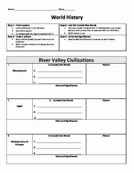 River Valley Civilizations Worksheet Answers Inspirational Ancient World History Key Concepts Review