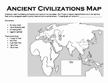 River Valley Civilizations Worksheet Answers Lovely Ancient Civilizations Map by Heather Kaczmarek