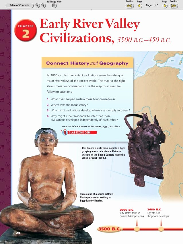 River Valley Civilizations Worksheet Answers Lovely River Valley Civs Chapter