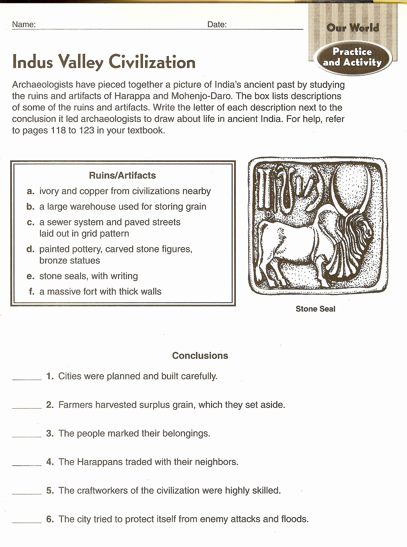 River Valley Civilizations Worksheet Answers New Mr Proehl S social Stu S Class