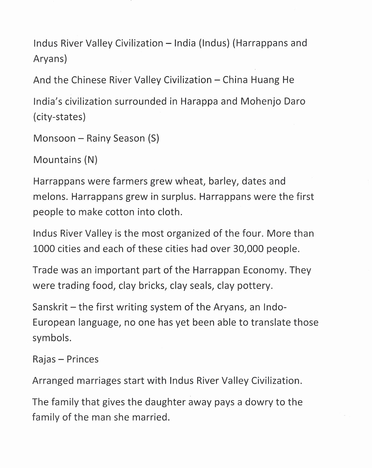 River Valley Civilizations Worksheet Awesome Mr E S World History Page Chapter 2 Early River Valley