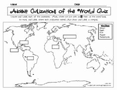 River Valley Civilizations Worksheet Elegant Ancient River Valley Civilizations Mapping Activity