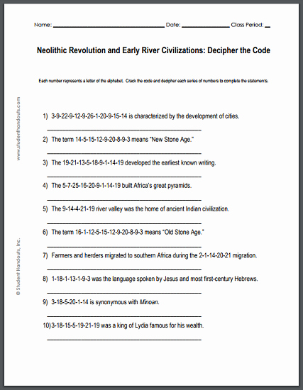 River Valley Civilizations Worksheet Elegant the Neolithic Revolution and Early River Valley