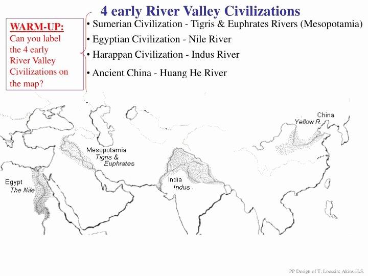 River Valley Civilizations Worksheet Fresh Ppt 4 Early River Valley Civilizations Powerpoint